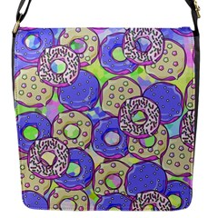 Donuts Pattern Flap Messenger Bag (s) by ValentinaDesign