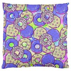 Donuts Pattern Large Flano Cushion Case (two Sides) by ValentinaDesign