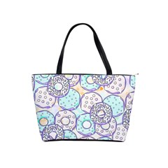 Donuts Pattern Shoulder Handbags by ValentinaDesign