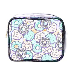 Donuts Pattern Mini Toiletries Bags by ValentinaDesign