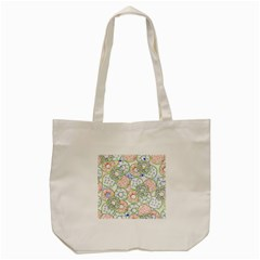 Donuts Pattern Tote Bag (cream) by ValentinaDesign