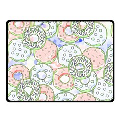 Donuts Pattern Fleece Blanket (small) by ValentinaDesign