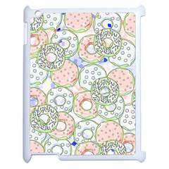 Donuts Pattern Apple Ipad 2 Case (white) by ValentinaDesign