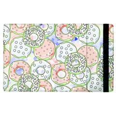 Donuts Pattern Apple Ipad 3/4 Flip Case by ValentinaDesign