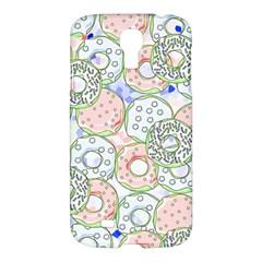 Donuts Pattern Samsung Galaxy S4 I9500/i9505 Hardshell Case by ValentinaDesign