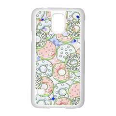 Donuts Pattern Samsung Galaxy S5 Case (white) by ValentinaDesign