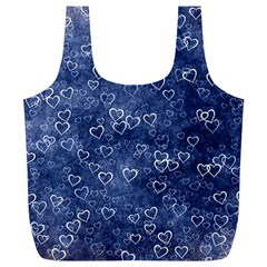 Heart Pattern Full Print Recycle Bags (l)  by ValentinaDesign