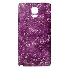 Heart Pattern Galaxy Note 4 Back Case by ValentinaDesign