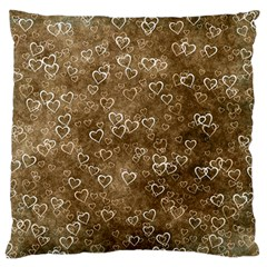 Heart Pattern Large Flano Cushion Case (two Sides) by ValentinaDesign