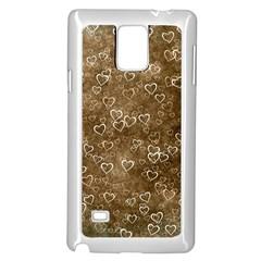 Heart Pattern Samsung Galaxy Note 4 Case (white) by ValentinaDesign