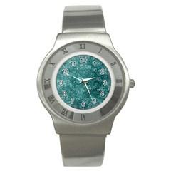 Heart Pattern Stainless Steel Watch by ValentinaDesign