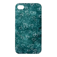Heart Pattern Apple Iphone 4/4s Hardshell Case by ValentinaDesign