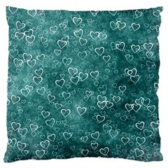 Heart Pattern Large Cushion Case (two Sides) by ValentinaDesign