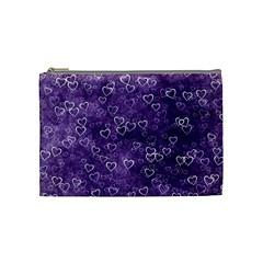 Heart Pattern Cosmetic Bag (medium)  by ValentinaDesign