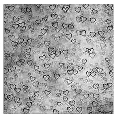 Heart Pattern Large Satin Scarf (square) by ValentinaDesign