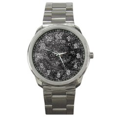Heart Pattern Sport Metal Watch by ValentinaDesign