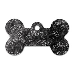 Heart Pattern Dog Tag Bone (one Side) by ValentinaDesign