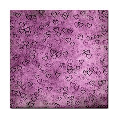 Heart Pattern Face Towel by ValentinaDesign