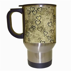 Heart Pattern Travel Mugs (white) by ValentinaDesign