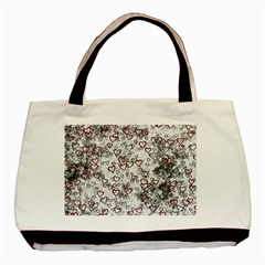 Heart Pattern Basic Tote Bag (two Sides) by ValentinaDesign
