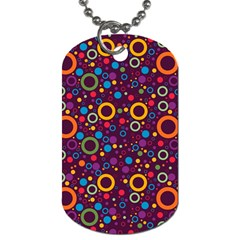 70s Pattern Dog Tag (one Side) by ValentinaDesign