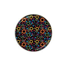 70s Pattern Hat Clip Ball Marker by ValentinaDesign