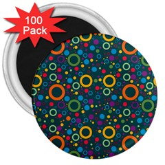 70s Pattern 3  Magnets (100 Pack) by ValentinaDesign