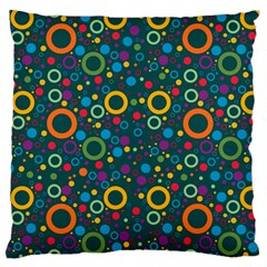 70s Pattern Large Cushion Case (one Side) by ValentinaDesign