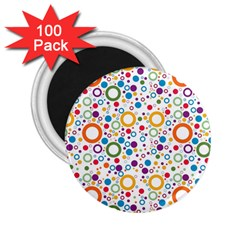 70s Pattern 2 25  Magnets (100 Pack)  by ValentinaDesign