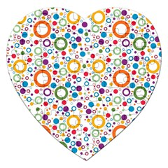 70s Pattern Jigsaw Puzzle (heart) by ValentinaDesign