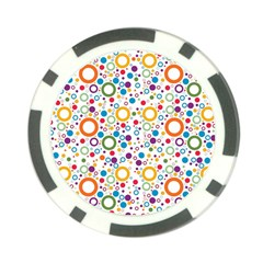 70s Pattern Poker Chip Card Guard (10 Pack) by ValentinaDesign
