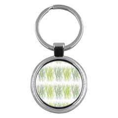 Weeds Grass Green Yellow Leaf Key Chains (round)  by Mariart