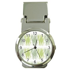 Weeds Grass Green Yellow Leaf Money Clip Watches by Mariart