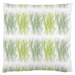 Weeds Grass Green Yellow Leaf Large Flano Cushion Case (two Sides) by Mariart