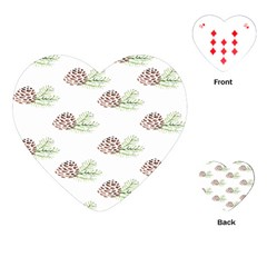 Pinecone Pattern Playing Cards (heart)  by Mariart