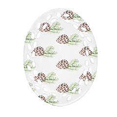 Pinecone Pattern Ornament (oval Filigree) by Mariart