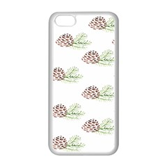 Pinecone Pattern Apple Iphone 5c Seamless Case (white) by Mariart