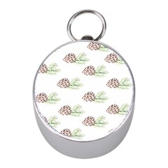 Pinecone Pattern Mini Silver Compasses by Mariart