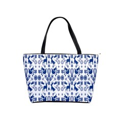 Rabbits Deer Birds Fish Flowers Floral Star Blue White Sexy Animals Shoulder Handbags by Mariart