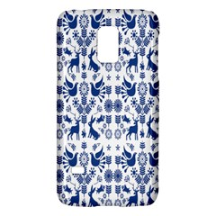 Rabbits Deer Birds Fish Flowers Floral Star Blue White Sexy Animals Galaxy S5 Mini by Mariart