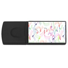 Rainbow Green Purple Pink Red Blue Pattern Zommed Rectangular Usb Flash Drive by Mariart