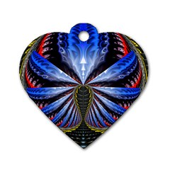 Illustration Robot Wave Dog Tag Heart (one Side) by Mariart