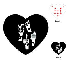 Kiss Band Logo Playing Cards (heart)  by Zhezhe