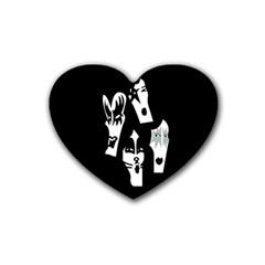 Kiss Band Logo Heart Coaster (4 Pack)  by Zhezhe