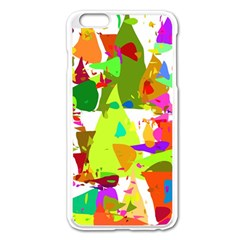 Colorful Shapes On A White Background                       Apple Iphone 6/6s Leather Folio Case by LalyLauraFLM