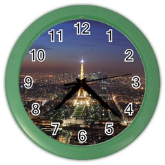 Paris At Night Color Wall Clocks by Zhezhe