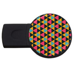 Triangles Pattern                           Usb Flash Drive Round (2 Gb) by LalyLauraFLM