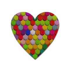 Colorful Tiles Pattern                           Magnet (heart) by LalyLauraFLM