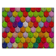 Colorful Tiles Pattern                           Jigsaw Puzzle (rectangular) by LalyLauraFLM