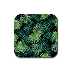Tropical Pattern Rubber Square Coaster (4 Pack)  by ValentinaDesign